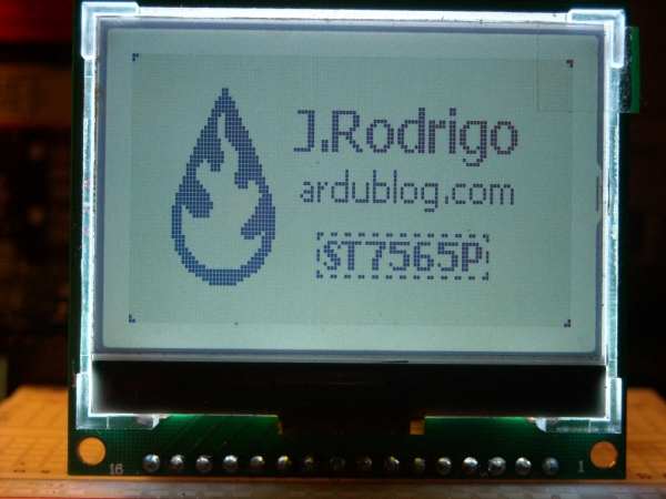 JRodrigoTech/ST7565P ST7565P graphic LCD display library for Arduino